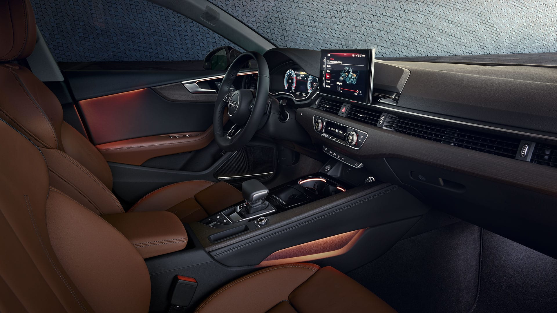 Interior in the Audi A5 Sportback